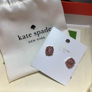 Pink glittery kate spade necklace